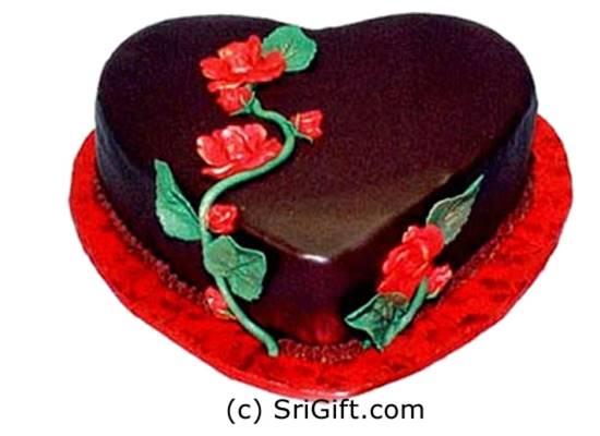 Choco Heart Flower Cake | SriGift.com | Gift Kapruka In ...